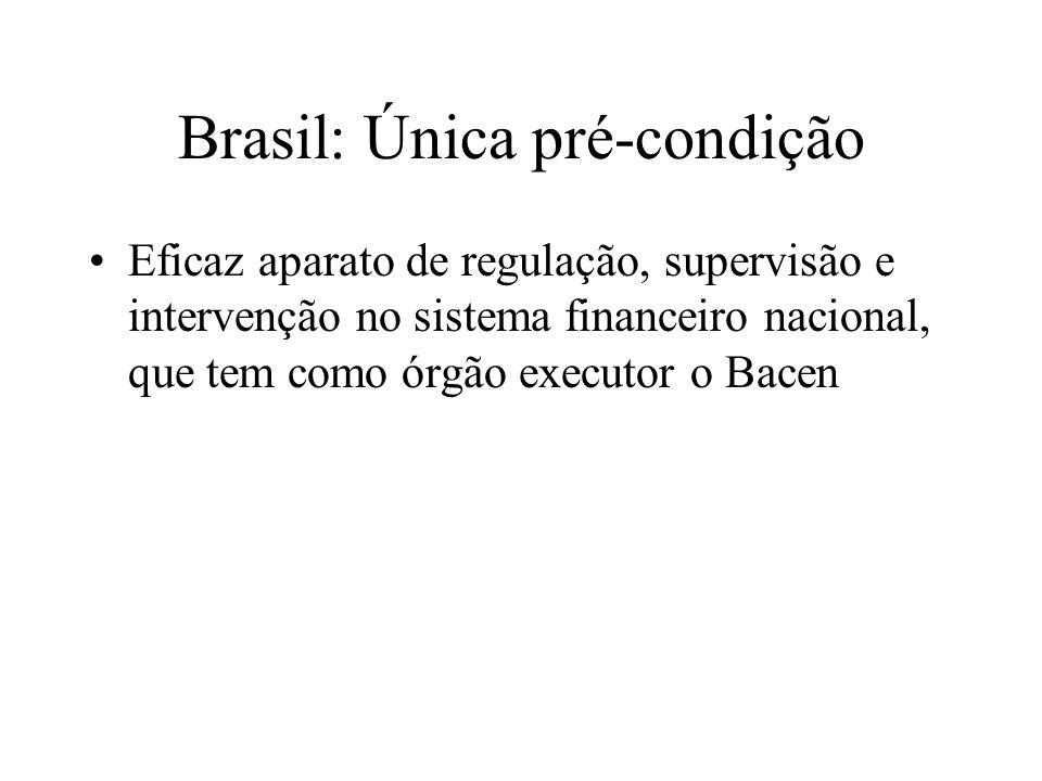 Brasil: Única pré-condição