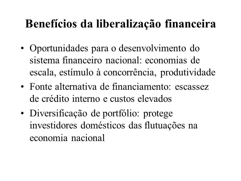 Benefícios da liberalização financeira