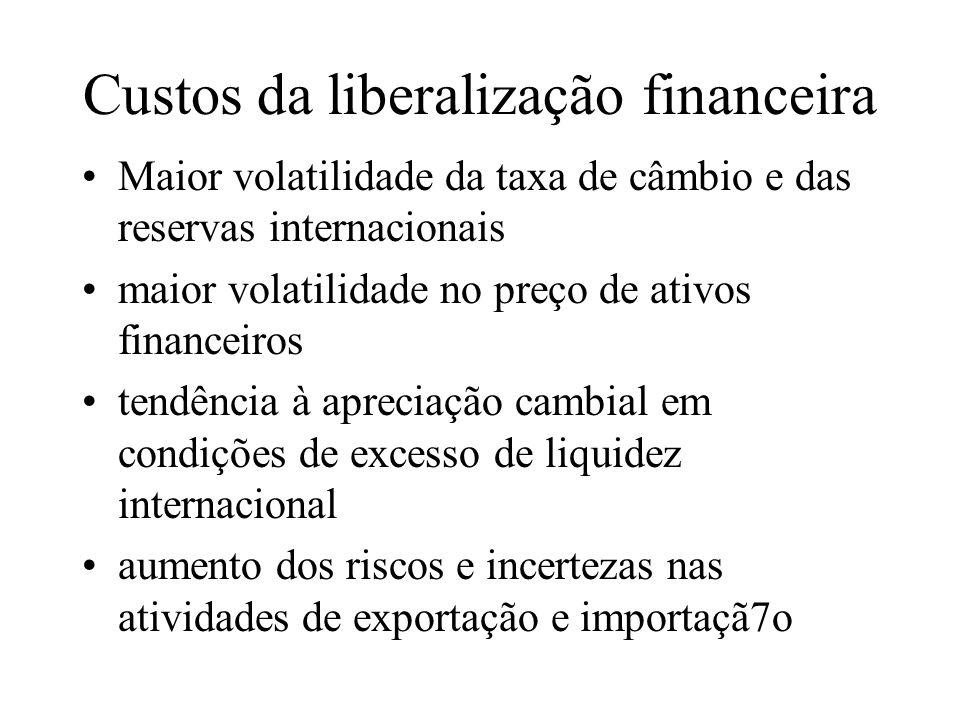 Custos da liberalização financeira