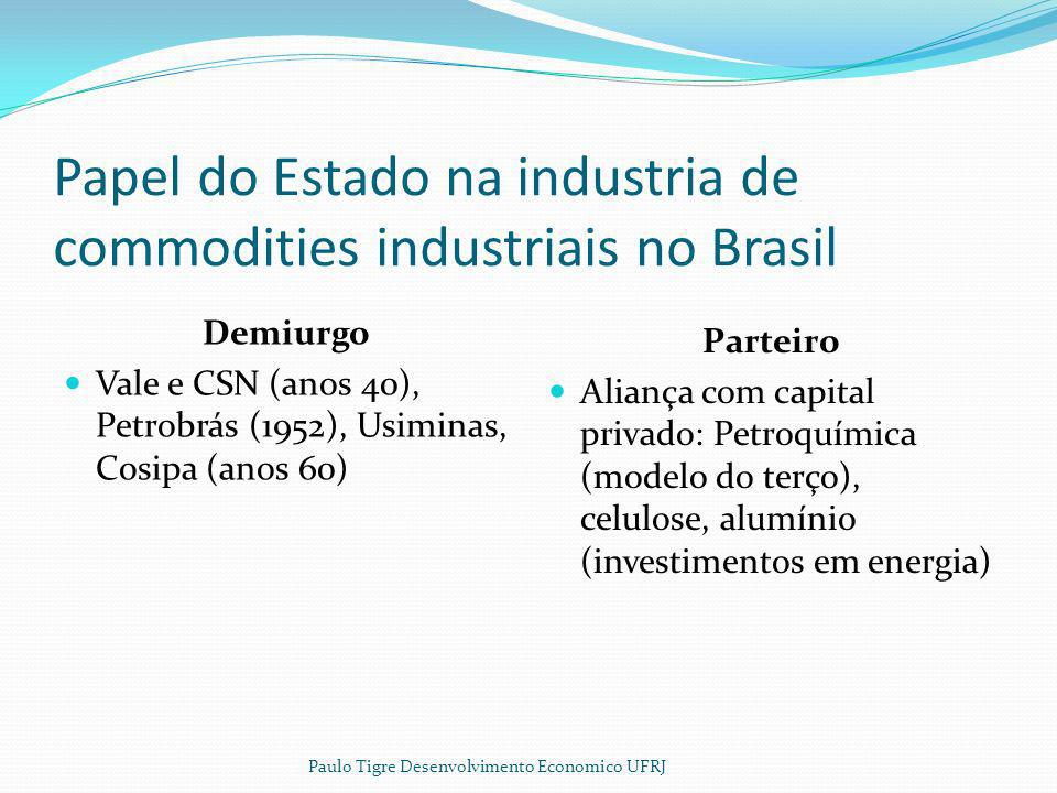 Papel do Estado na industria de commodities industriais no Brasil
