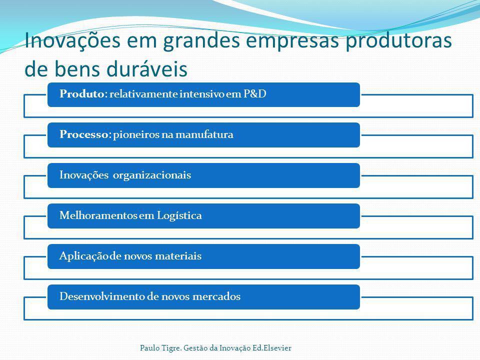 Inovações em grandes empresas produtoras de bens duráveis