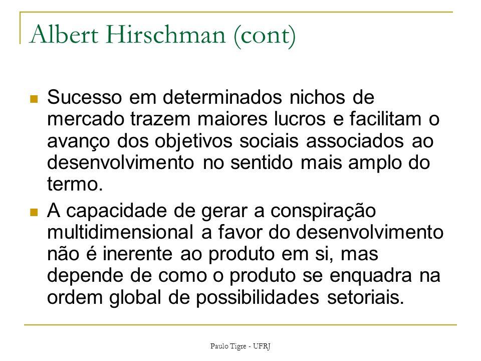 Albert Hirschman (cont)