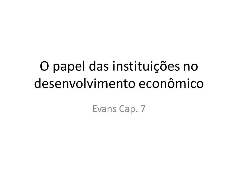 O papel das instituições no desenvolvimento econômico