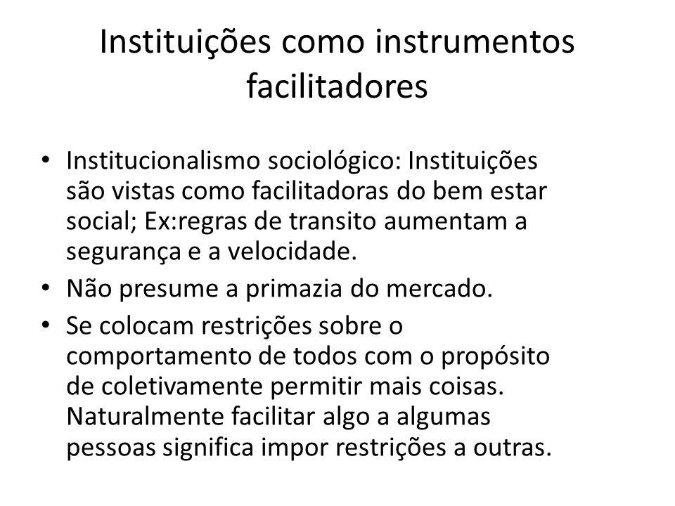 Instituições como instrumentos facilitadores