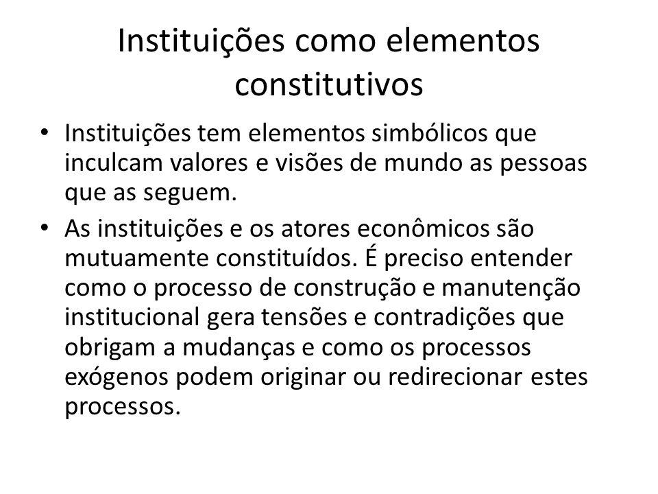 Instituições como elementos constitutivos