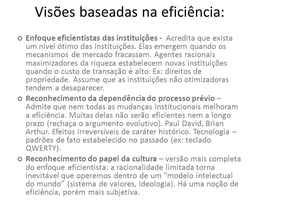 Visões baseadas na eficiência: