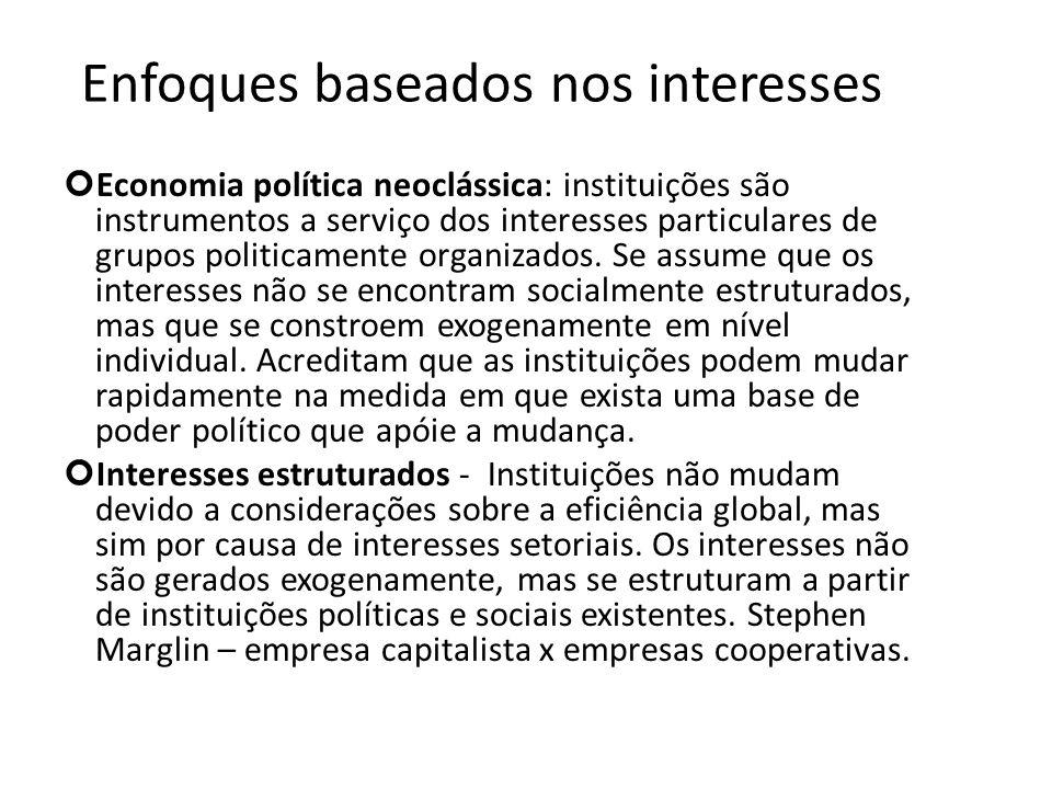 Enfoques baseados nos interesses