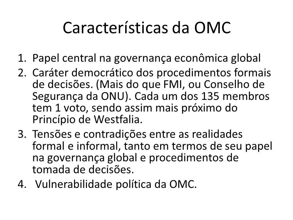 Características da OMC