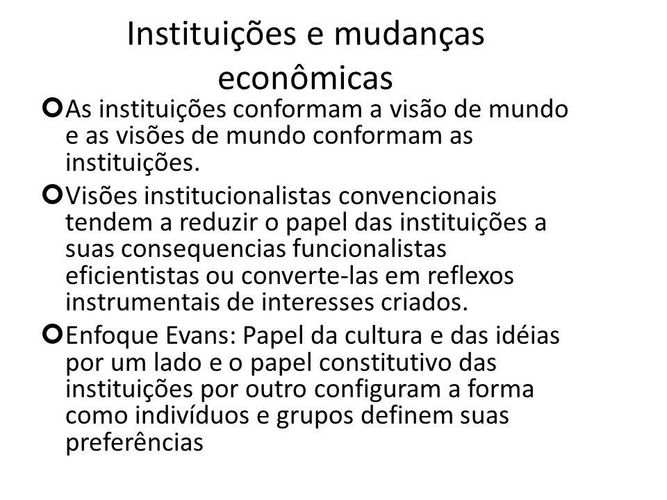 Instituições e mudanças econômicas