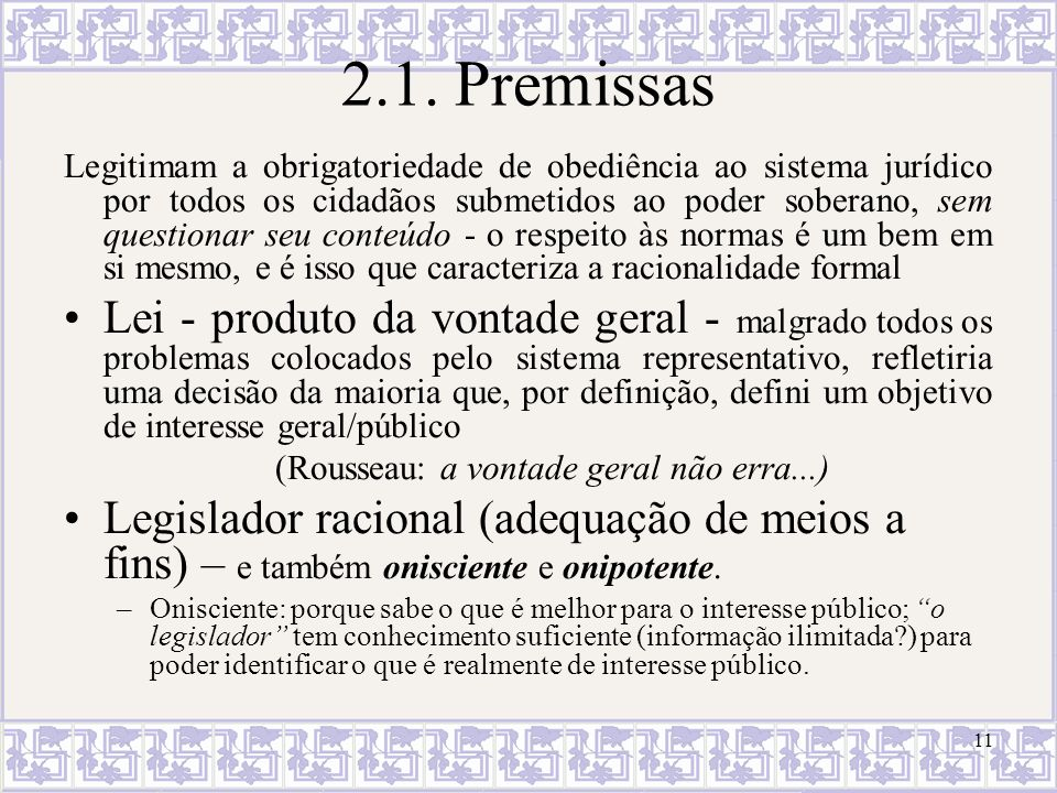 2.1. Premissas
