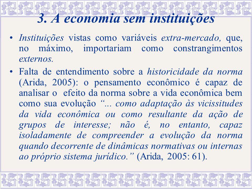 3. A economia sem instituições