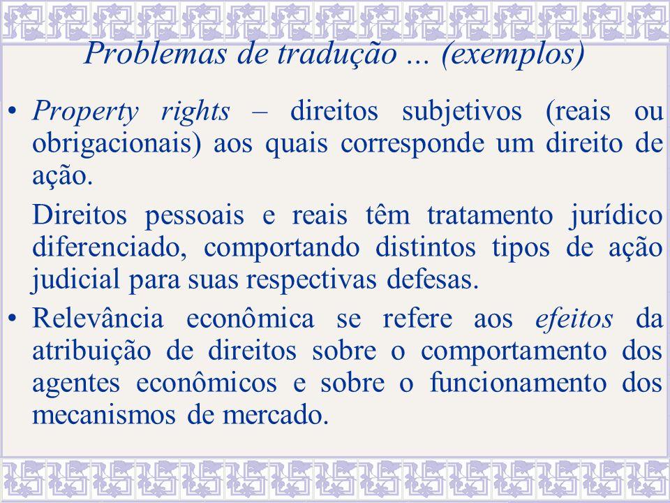 Problemas de tradução ... (exemplos)