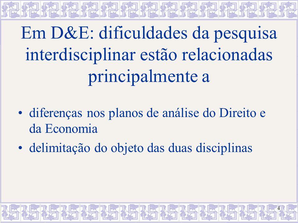 Em D&E: dificuldades da pesquisa interdisciplinar estão relacionadas principalmente a
