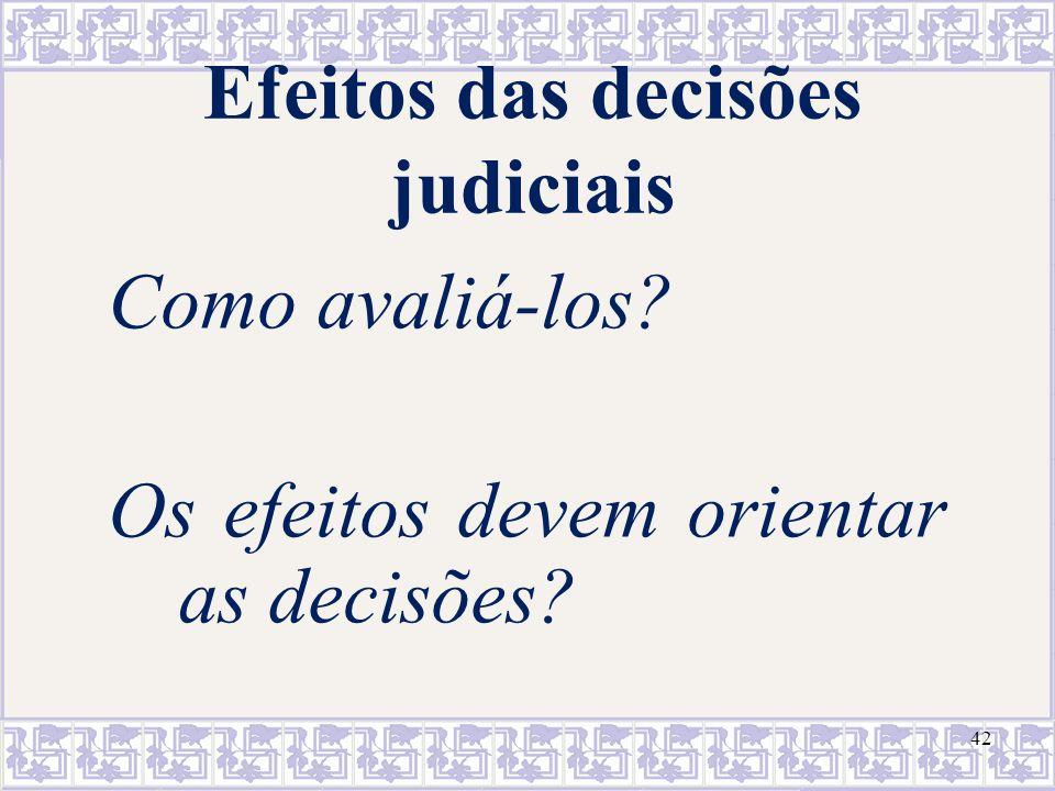Efeitos das decisões judiciais