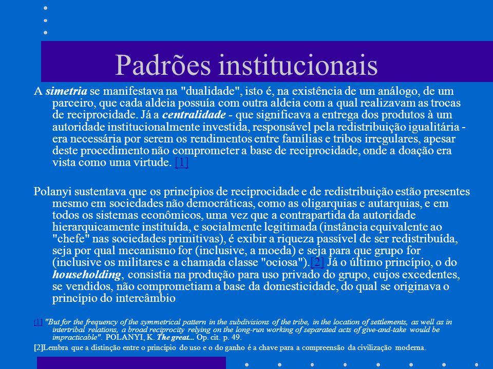 Padrões institucionais
