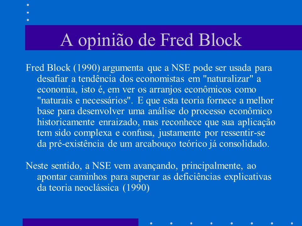 A opinião de Fred Block