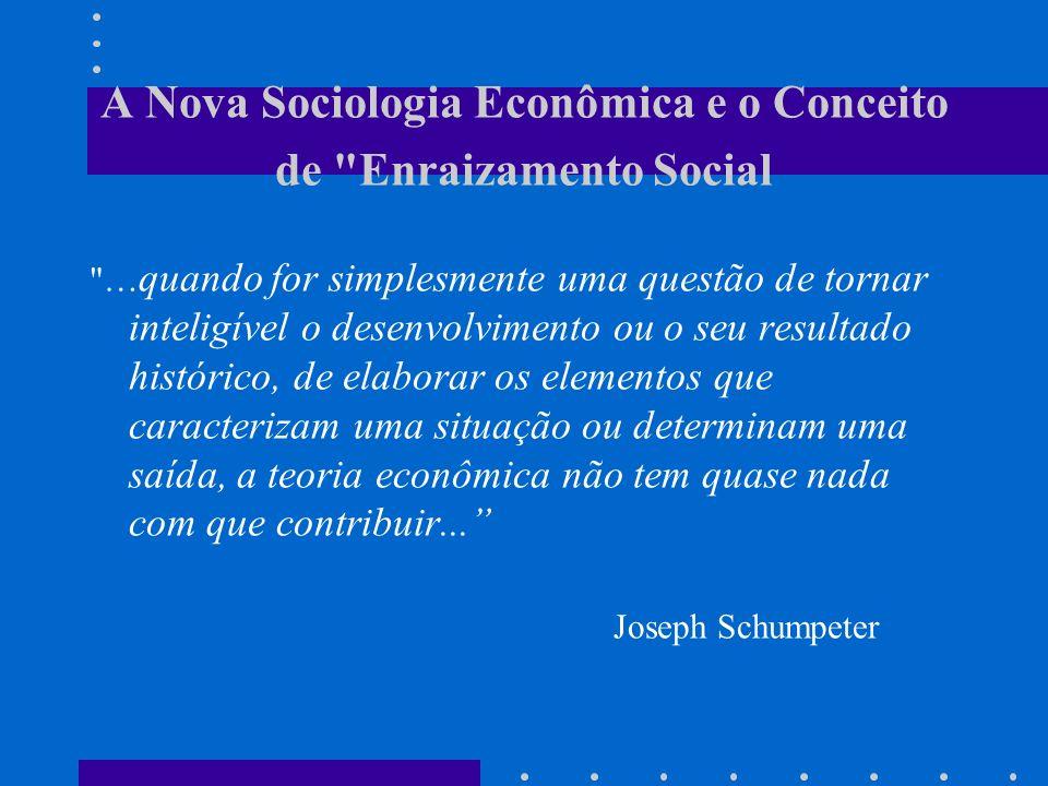 A Nova Sociologia Econômica e o Conceito de Enraizamento Social