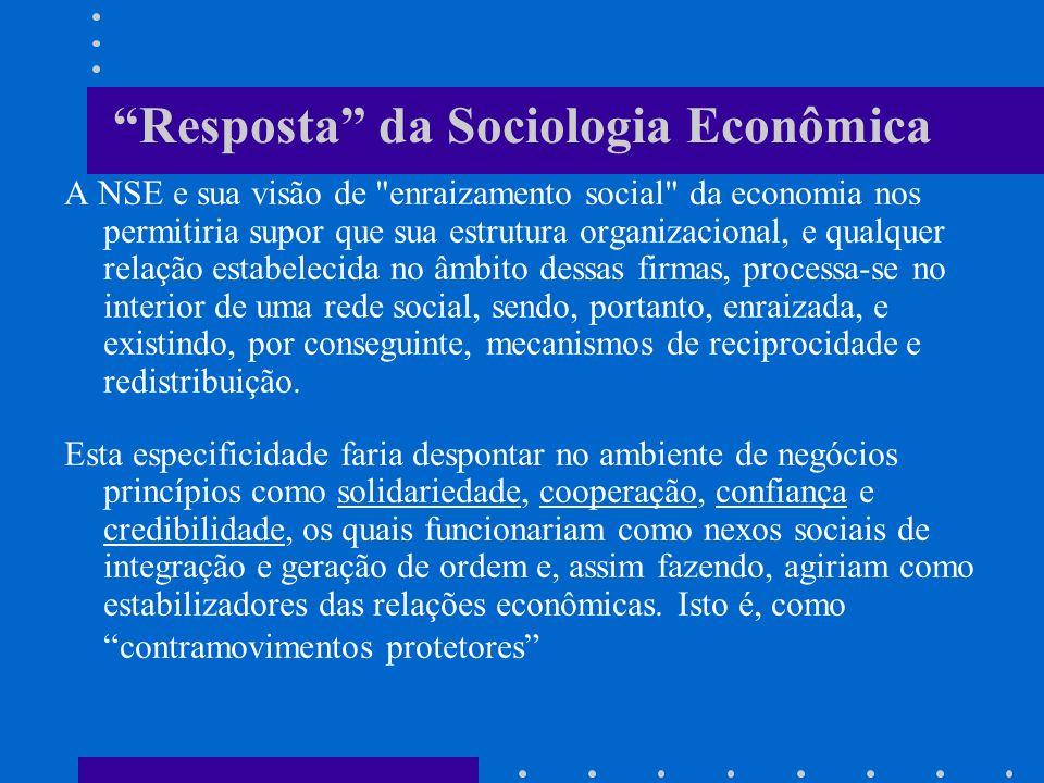 Resposta da Sociologia Econômica