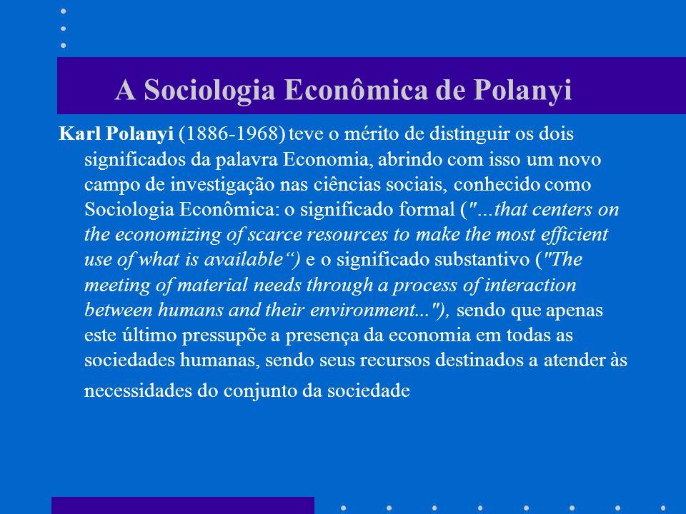 A Sociologia Econômica de Polanyi