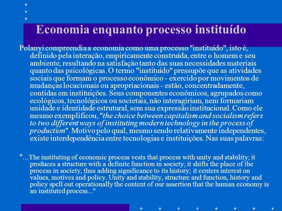 Economia enquanto processo instituído