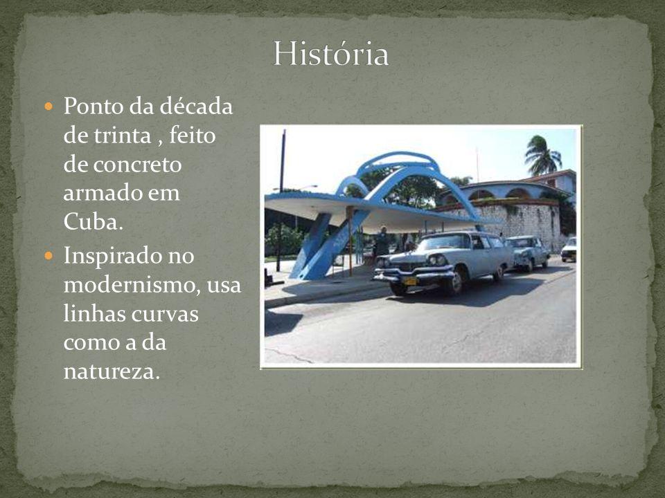 História Ponto da década de trinta , feito de concreto armado em Cuba.