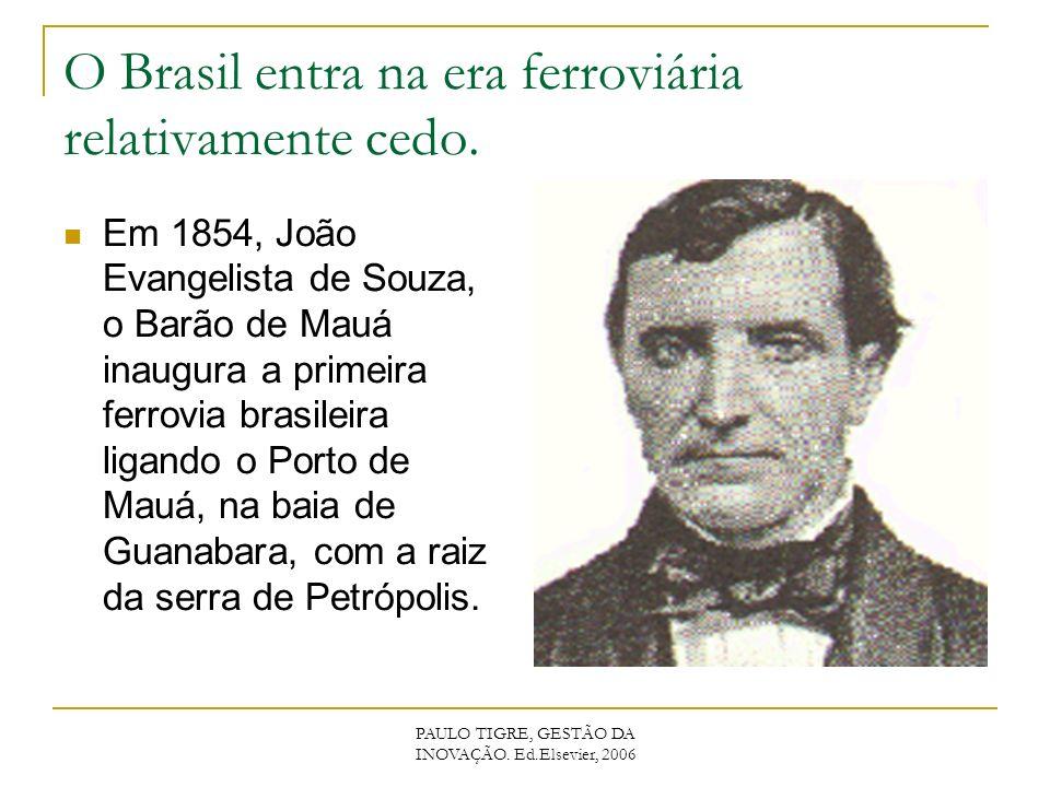O Brasil entra na era ferroviária relativamente cedo.