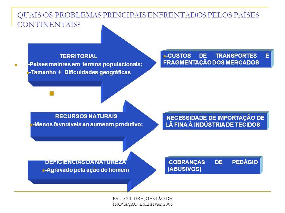QUAIS OS PROBLEMAS PRINCIPAIS ENFRENTADOS PELOS PAÍSES CONTINENTAIS