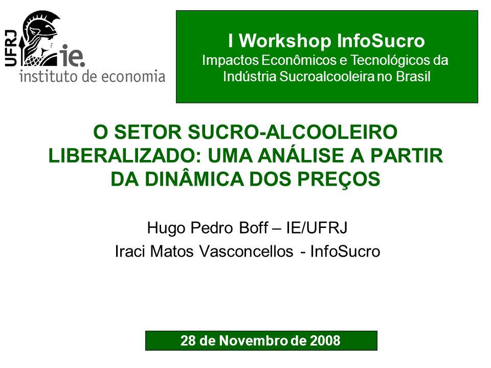Hugo Pedro Boff – IE/UFRJ Iraci Matos Vasconcellos - InfoSucro