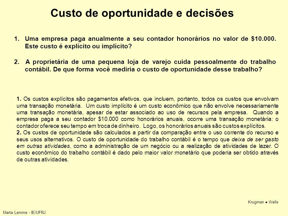 Custo de oportunidade e decisões