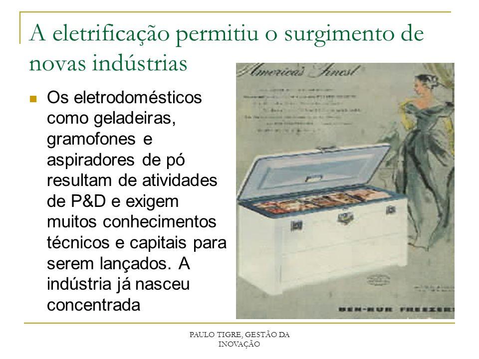 A eletrificação permitiu o surgimento de novas indústrias