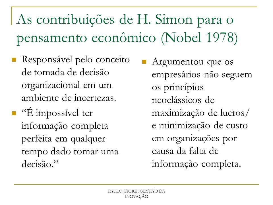 As contribuições de H. Simon para o pensamento econômico (Nobel 1978)
