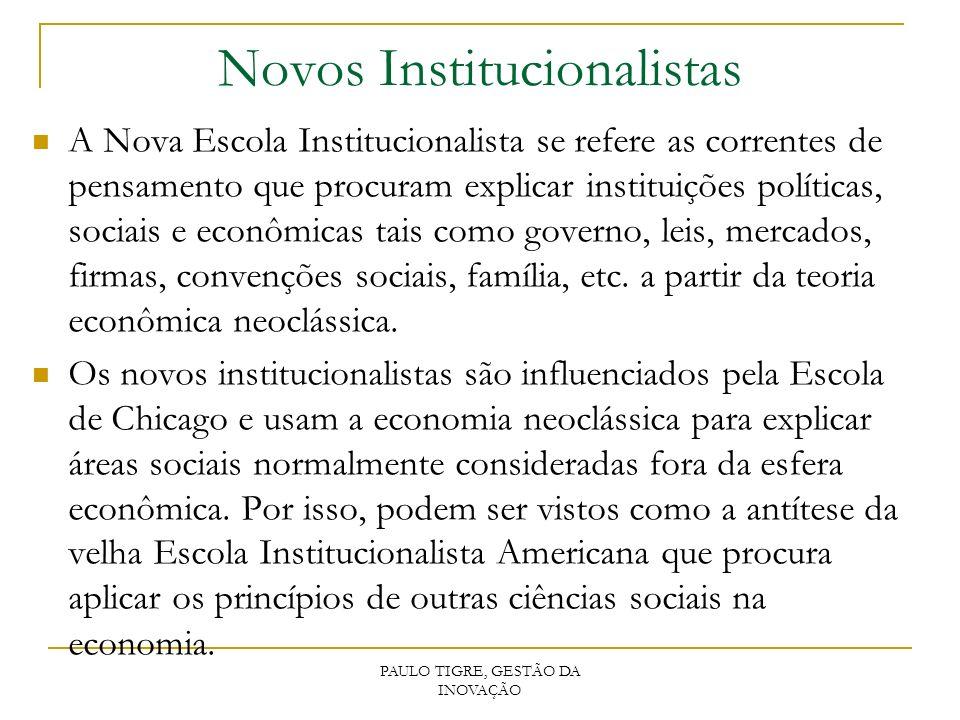 Novos Institucionalistas
