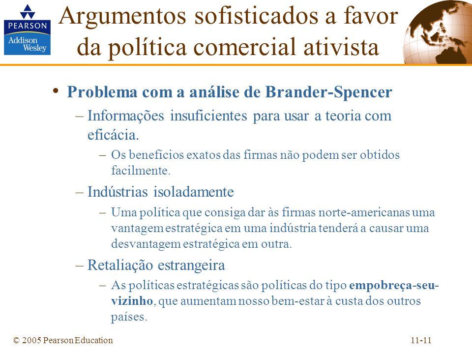 Argumentos sofisticados a favor da política comercial ativista