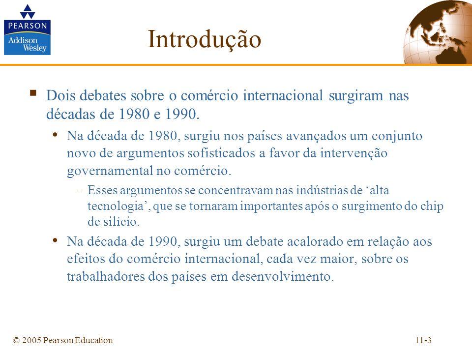 Introdução Dois debates sobre o comércio internacional surgiram nas décadas de 1980 e 1990.