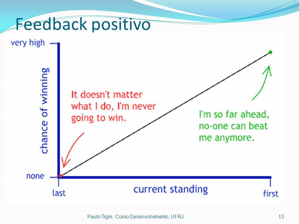 Feedback positivo Paulo Tigre, Curso Desenvolvimento, UFRJ