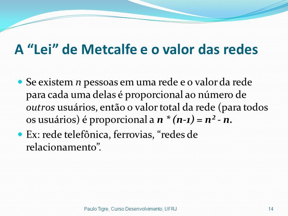 A Lei de Metcalfe e o valor das redes