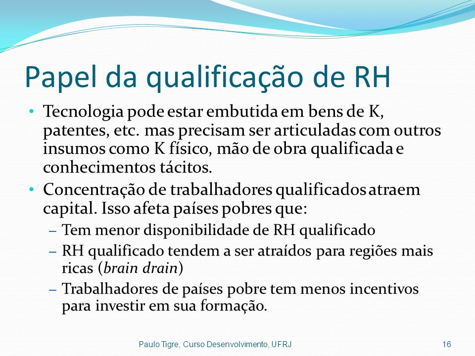 Papel da qualificação de RH