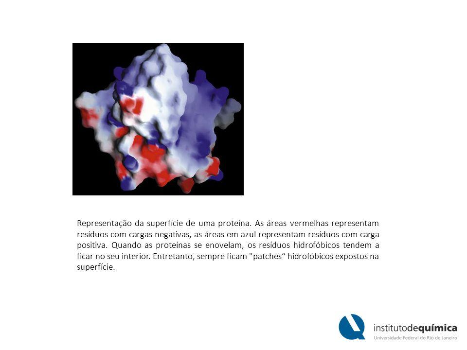 Representação da superfície de uma proteína