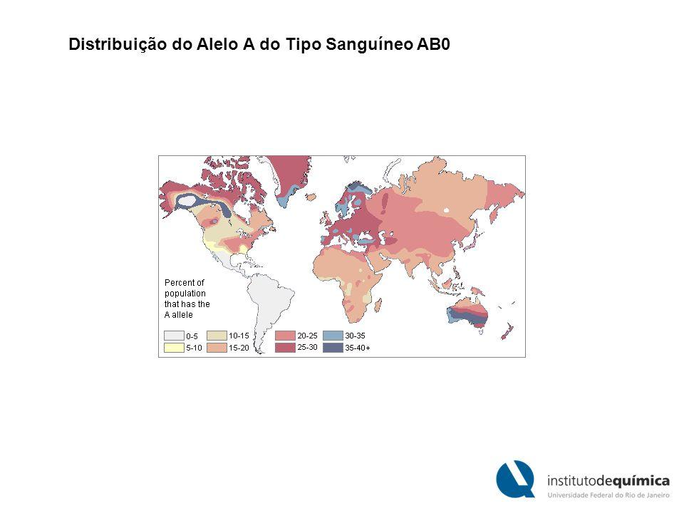 Distribuição do Alelo A do Tipo Sanguíneo AB0