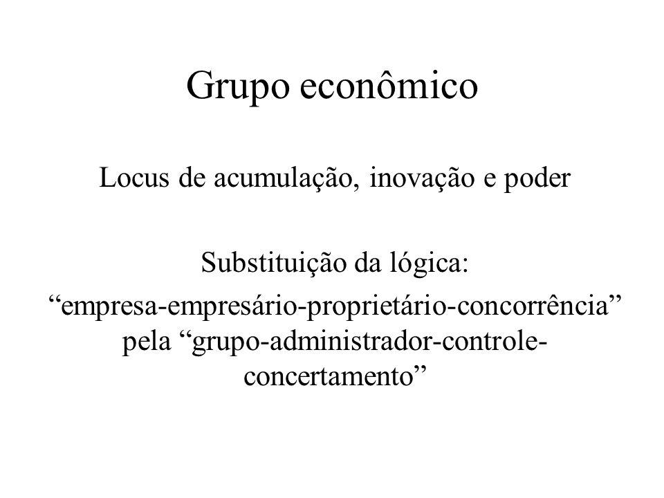 Grupo econômico Locus de acumulação, inovação e poder