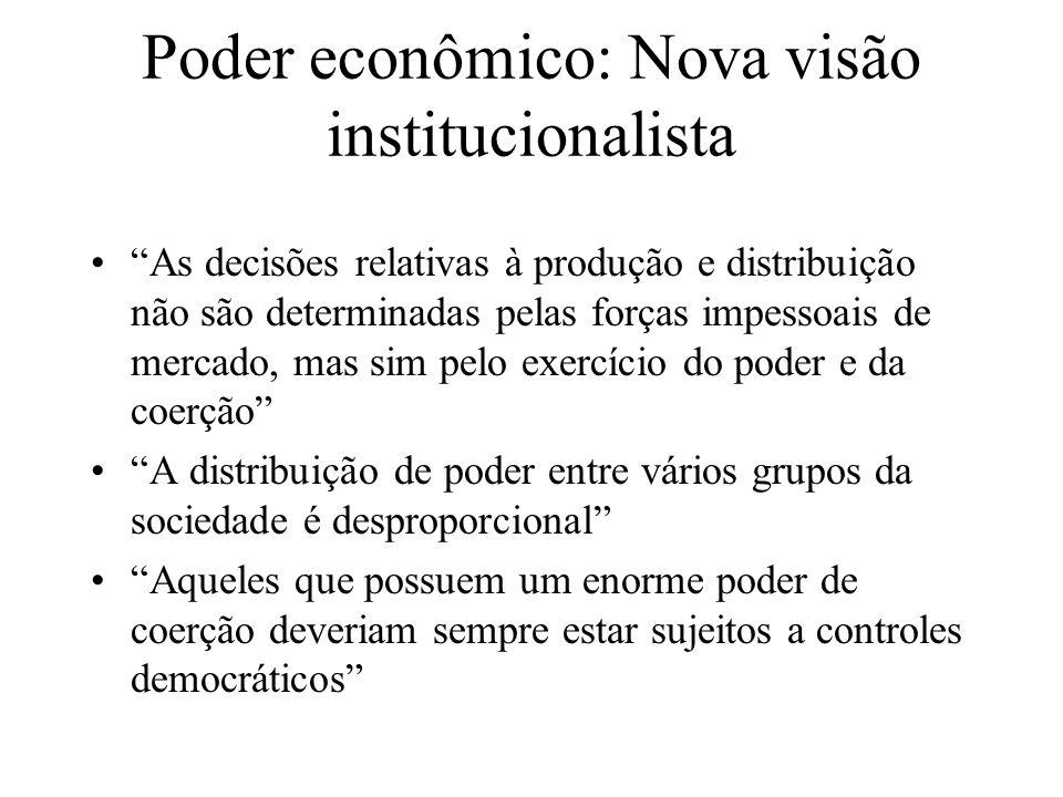 Poder econômico: Nova visão institucionalista