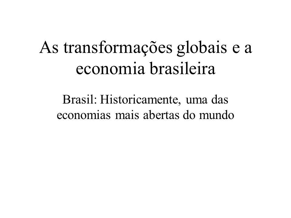 As transformações globais e a economia brasileira