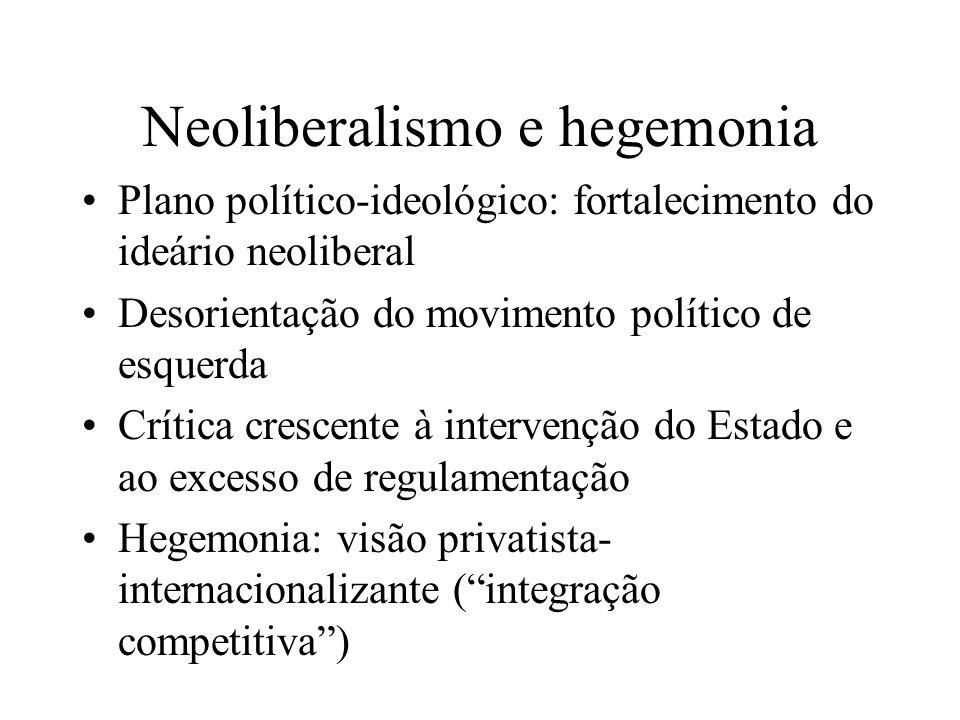 Neoliberalismo e hegemonia