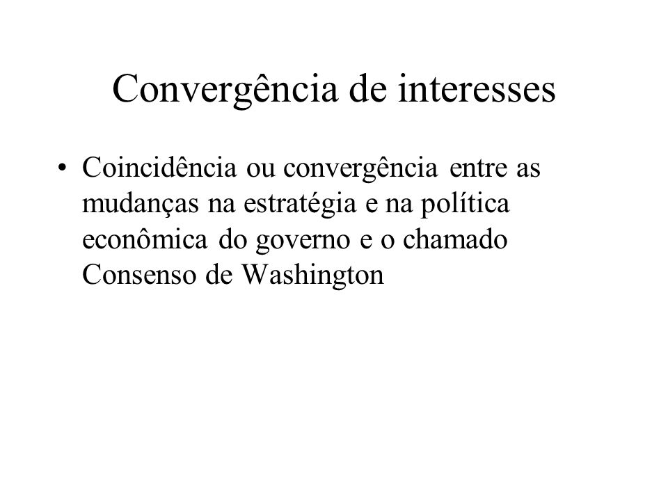 Convergência de interesses