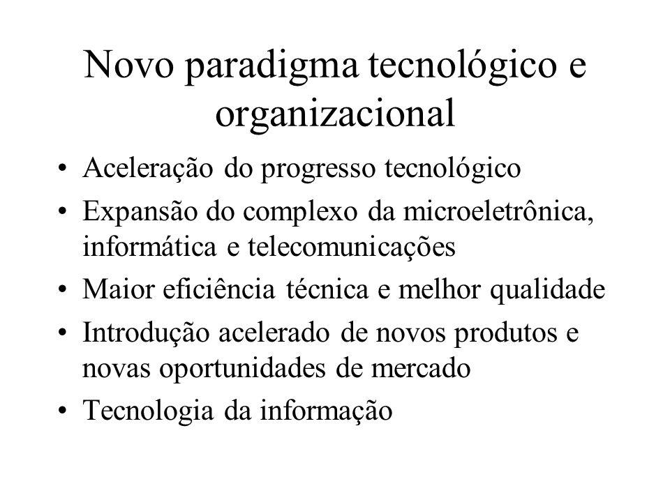 Novo paradigma tecnológico e organizacional