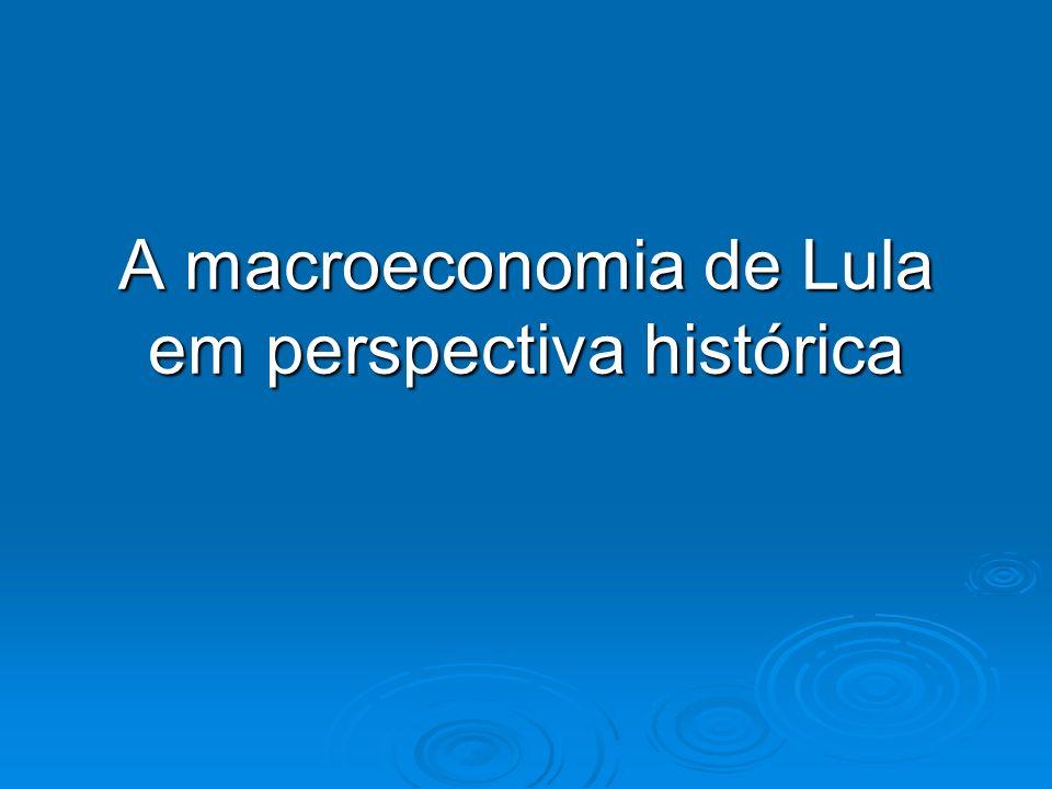 A macroeconomia de Lula em perspectiva histórica