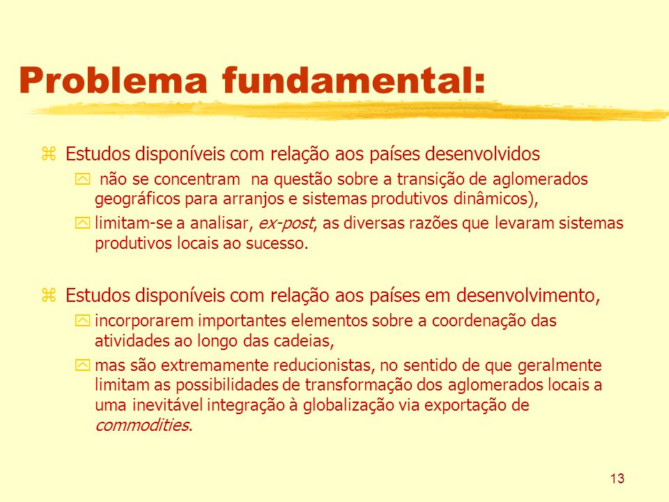 Problema fundamental: