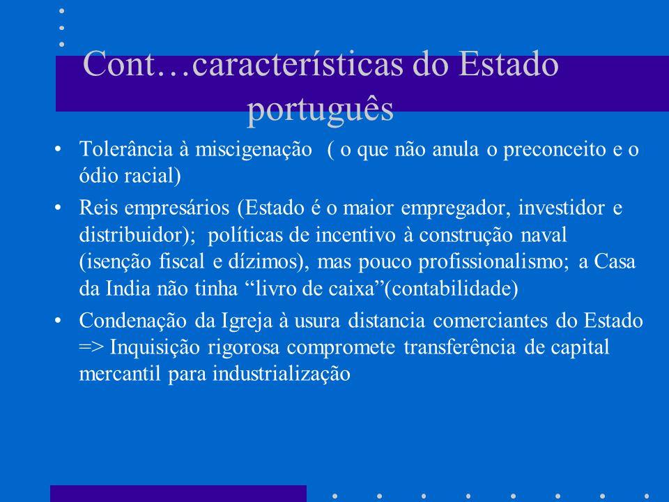 Cont…características do Estado português