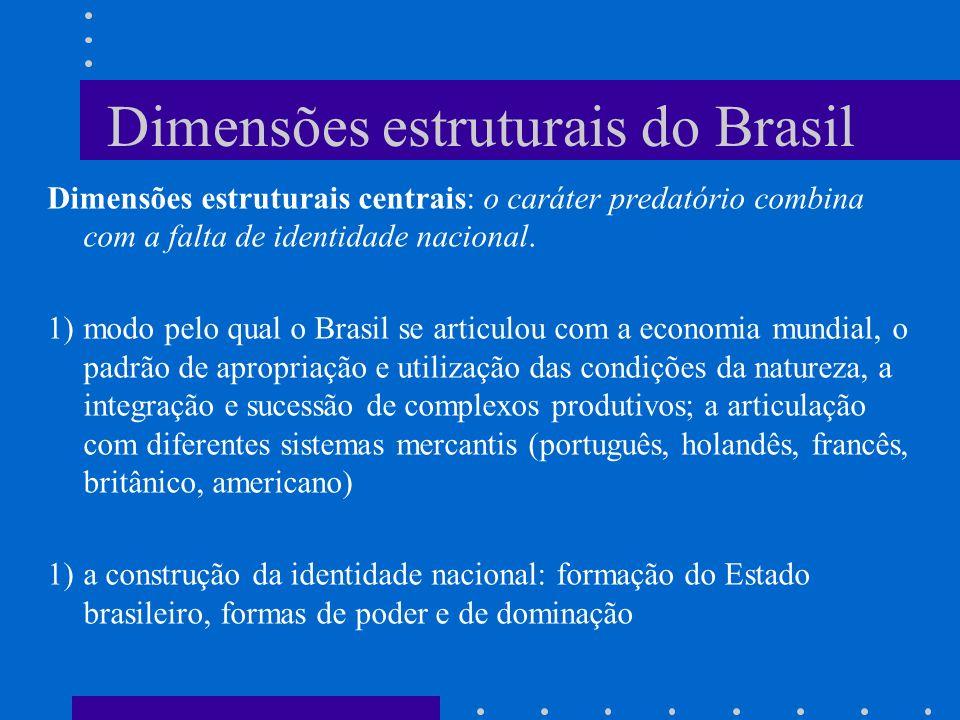 Dimensões estruturais do Brasil