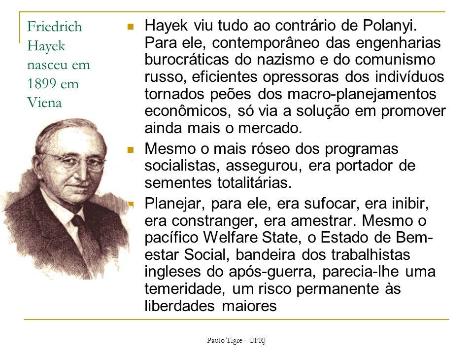 Friedrich Hayek nasceu em 1899 em Viena